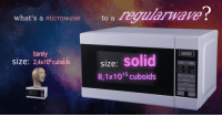 "Reddit, Power, and Com: what's a microwaveto a egiiarwave  barely  size: 2,4x106 cuboids  size: solid  8,1x1015 cuboids  Imin  POWER <p>[<a href=""https://www.reddit.com/r/surrealmemes/comments/8abiah/size_does_matter/"">Src</a>]</p>"