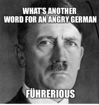 Funny, Word, and Angry: WHAT'S ANOTHER  WORD FOR AN ANGRY GERMAN  FUHRERIOUS