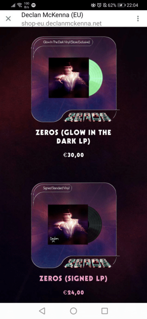 What's better to get glow in the dark or personally signed vinyl?: What's better to get glow in the dark or personally signed vinyl?