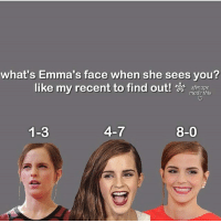 Like my recent post and see the last digit to find out what's Emma's face when she sees you! 😍 Comment down below! 💖👇 harrypotter thechosenone theboywholived hermionegranger ronweasley gryffindor bestfriends thegoldentrio dracomalfoy theboywhohadnochoice slytherin hogwarts ministryofmagic jkrowling harrypotterfilm harrypottercasts potterheads potterheadforlife harrypotterfact harrypotterfacts hpfact hpfacts thehpfacts danielradcliffe emmawatson rupertgrint tomfelton: what's Emma's face when she sees you?  like my recent to find out!  ssnape  made this  1-3  4-7  8-0 Like my recent post and see the last digit to find out what's Emma's face when she sees you! 😍 Comment down below! 💖👇 harrypotter thechosenone theboywholived hermionegranger ronweasley gryffindor bestfriends thegoldentrio dracomalfoy theboywhohadnochoice slytherin hogwarts ministryofmagic jkrowling harrypotterfilm harrypottercasts potterheads potterheadforlife harrypotterfact harrypotterfacts hpfact hpfacts thehpfacts danielradcliffe emmawatson rupertgrint tomfelton