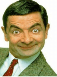 whats is the face expression of Mr bean hahahah: whats is the face expression of Mr bean hahahah