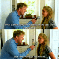 """Dad, Dank, and Meme: What's it like being the daughter of the best chef  in the wold  But Jamie Oliver's not my dad <p>Thats sad via /r/dank_meme <a href=""""http://ift.tt/2oItHrN"""">http://ift.tt/2oItHrN</a></p>"""