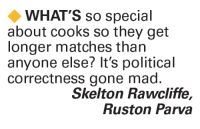 Memes, 🤖, and Madness: WHAT'S so special  about cooks so they get  longer matches than  anyone else? It's political  correctness gone mad  Skelton Rawcliffe  Ruston Parva