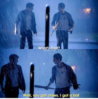 "Memes, 🤖, and Human: What's that?  TEENWOLFONIG  Well, you got claws. I got a bat. Stiles and his bat 😂👌 3x10 ""The Overlooked"" - Human or werewolf?"