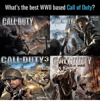 The best of the bunch?: What's the best WWII based  Call of Duty  CALL DUTY  UNILAD  GAMING  RLD AT WAR  ACTMISIO The best of the bunch?