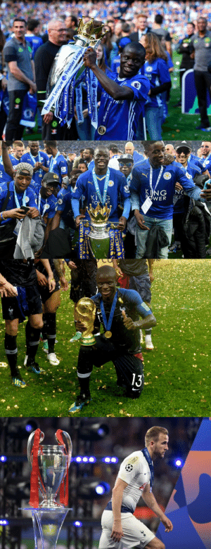 "What's the difference between Kante and Kane? The ""T"" in Kante stands for trophies. https://t.co/v4yOunVAW3: What's the difference between Kante and Kane? The ""T"" in Kante stands for trophies. https://t.co/v4yOunVAW3"