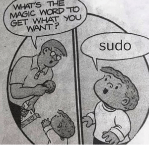 Magic, Word, and Overrated: WHAT'S THE  MAGIC WORD TO  GET WHAT YOU  WANT?  sudo Please is overrated