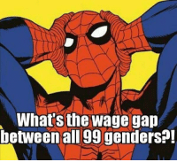 Memes, Good, and 🤖: What's the wage gap  between all 99 genders?! Good question.