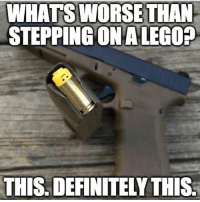 Definitely, Fire, and Friends: WHATS WORSE THAN  STEPPINGONALEGO?  THIS DEFINITELY THIS Would it even be physically possible to fire a lego out of a handgun? ➖ Via @alwaysfaithfulusmc ➖ TAG SOME FRIENDS! HELPS PROMOTE THE PAGE! ➖ 👇FOLLOW THESE ACCOUNTS! 👇 @christopher_harris_144 @comrades_milsim_sanctuary @united.states.marines @that.one.american @navyseal_frogman ➖ I DO NOT SERVE ❌ ➖