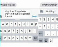 "Do you like this meme?: What's wrong?  What's wrong?  Nothing  Why does fridge have  a ""D"" in it but refrigerator  doesn't  Send  1 2 3 4 5  w e r t y u o p  a s d f g hk  ABC Do you like this meme?"