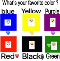 What Is Your Favorite Color: What's your favorite color?  blue Yellow Purple  Red Black Green