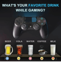 I like Cola. Gamers?: WHAT'S YOUR FAVORITE DRINK  WHILE GAMING?  BEER  COLA  WATER  COFFEE  MILK I like Cola. Gamers?