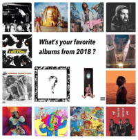 Which ones your favorite❓comment ⬇️ Follow @bars for more ➡️ DM 5 FRIENDS: What's your favorite  Ealbums from 2018?  ASAP ROCKY  HARDER THAN EVER Which ones your favorite❓comment ⬇️ Follow @bars for more ➡️ DM 5 FRIENDS