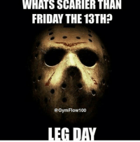 You have bigger things to worry about. . @officialdoyoueven 👈: WHATSSCARIER THAN  FRIDAY THE 13THP  @Gym Flow 100  LEAD You have bigger things to worry about. . @officialdoyoueven 👈