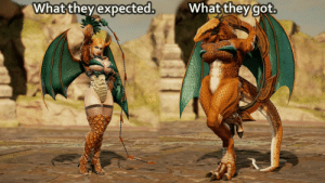 Sexy, Boobs, and Big Boobs: Whatthevexpected  What  theygot. So someone requested to create a sexy Charizard with big boobs.. (Soul Calibur VI)