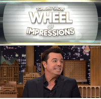 "Seth MacFarlane, Target, and Wee: WHEEL  OF <p><a href=""https://www.youtube.com/watch?v=6AXd5tcyneE"" target=""_blank"">Jimmy and Seth MacFarlane have a Pee-Wee Herman impression-off as part of ""Wheel of Impressions""!</a></p>"