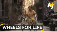 This site connects donors with people in India who need wheelchairs but can't afford one.: WHEELS FOR LIFE  DL 3S  B 0871 This site connects donors with people in India who need wheelchairs but can't afford one.