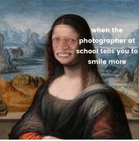 "Dank, Lol, and Meme: wheh the  photographer at  school tells you to  smile more <p>I am fat lol kys via /r/dank_meme <a href=""http://ift.tt/2yytz1r"">http://ift.tt/2yytz1r</a></p>"