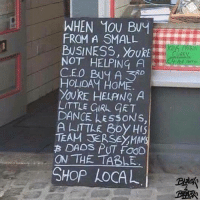 Food, Memes, and Black: WHEN 10U Buy  FROM A SMALL  NOT HELPING  A  CEO Buy A RD  HOLIDAY HOME  YOURE HELANG A  LITTLE GIRL GET  DANCE LEssONS,  A LITTLE Boy HIS  TEAM TERSEYMAMS  B DADs PUT FOOD  ON THE TABLE  SHOP LOCAL Repost from @black4black_ Just a reminder for my people. Support Black-owned businesses! black4black supportblack blackowned blackownedbusiness supportblackbusiness buyblack blackentrepreneurs blackbusinessmatters blackwealthmatters investblack blackmoney blackdollarsmatter blackbusiness biycottcorporation