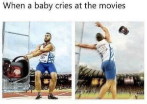Movies, Quiet, and Baby: When a baby cries at the movies  ORY  755 Be quiet, BABY 🍼 👶