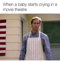 Do everyone a favor. Watch Father of the Year now, only on @Netflix! sp: When a baby starts crying in a  movie theatre Do everyone a favor. Watch Father of the Year now, only on @Netflix! sp