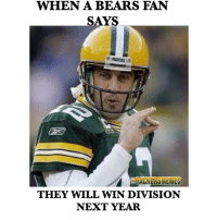 WHEN A BEARS FAN  SAYS  THEY WILL WIN DIVISION  NEXT YEAR Bears fans 😂😂 packers gopackgo bears nfl nfl nfc greenbay chicago