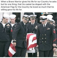 PC: militaryearth . www.tacticalgunners.com ✅ Double tap the pic ✅ Tag your friends ✅ Check link in my bio for badass stuff - american military soldier veteran veterans warrior warriors hero heroes respect patriot enlist freedom fallenheroes: When a Brave Warrior gives his life for our Country he asks  but for one thing, that his casket be draped with the  American Flag for the Country he loved so much that he  willing gave his life for.  RYEARTH PC: militaryearth . www.tacticalgunners.com ✅ Double tap the pic ✅ Tag your friends ✅ Check link in my bio for badass stuff - american military soldier veteran veterans warrior warriors hero heroes respect patriot enlist freedom fallenheroes