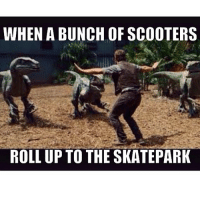 Skate, Roll Up, and Scooters: WHEN A BUNCH OF SCOOTERS  ROLL UP TO THE SKATEPARK 😂😂😂💯😤 skatermemes