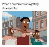 Funny, Gaming, and Channel: When a coworker starts getting  disrespectful:  adukswim F A C T S. 😂 (follow @tryhard my new gaming channel) 🎮