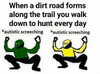 When AnCaps and AnPrims intersect, you know you're going to have a bad time of it...:) Rasta Monkey, AnCap Admin: When a dirt road forms  along the trail you walk  down to hunt every day  autistic screeching  autistic screeching When AnCaps and AnPrims intersect, you know you're going to have a bad time of it...:) Rasta Monkey, AnCap Admin