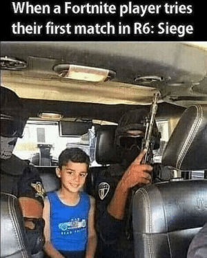 Match, Player, and First: When a Fortnite player tries  their first match in R6: Siege