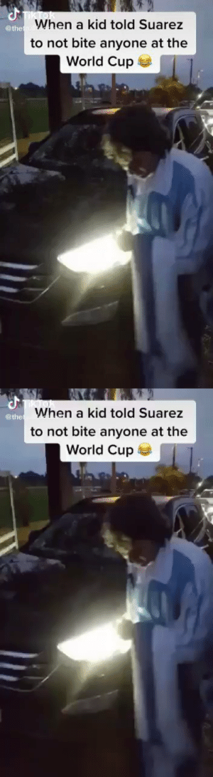 When a kid asked Suarez not to bite anyone at the World Cup  https://t.co/SmJ001C7oA: When a kid asked Suarez not to bite anyone at the World Cup  https://t.co/SmJ001C7oA