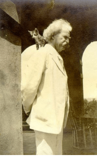"""Cats, Memes, and Mark Twain: """"When a man loves cats, I am his friend and comrade without further introduction."""" ~Mark Twain, 1903"""