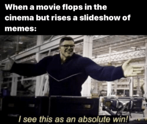 Memes, Reddit, and Tropic Thunder: When a movie flops in the  cinema but rises a slideshow of  memes:  I see this as an absolute win! I will start: Tropic Thunder