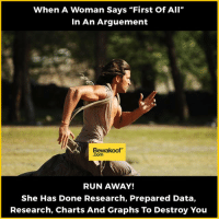 "And you should start running then :P  Shop now : bit.ly/BewakoofCollection: When A Woman Says ""First Of All""  In An Arguement  Bewakoof""  RUN AWAY!  She Has Done Research, Prepared Data,  Research, Charts And Graphs To Destroy You And you should start running then :P  Shop now : bit.ly/BewakoofCollection"