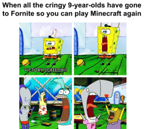 Dont Mine At Night: When all the cringy 9-year-olds have gone  to Fornite so you can play Minecraft again  VICTORY SCREECH!!! Dont Mine At Night