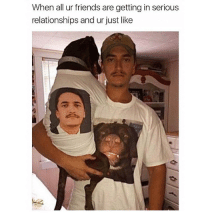 """Best Friend, Friends, and Memes: When all ur friends are getting in serious  relationships and ur just like """"My dog is my best friend"""" 🐕😂😂 https://t.co/c2H5AoGDfd"""