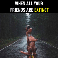 9gag, Dank, and Friends: WHEN ALL YOUR  FRIENDS ARE EXTINCT Plot twist: You don't have any friends... https://9gag.com/gag/a88MopO/sc/funny?ref=fbsc