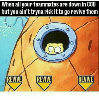 💂keep yourself safe - ✅ Credit: @ 😂 Tag Your Friends! ❤ Leave A Like To Show Support ⛔ Hate Or Advertising Will Be Blocked! 🎮 Have A Great Day! - 🔥 Tags (ignore): xbox xbox360 xboxone microsoft ps3 ps4 playstation cod codmemes codmemesdaily meme memes lol awesome advancedwarfare bo2 mw2 mw3 videogames videogamememes true destiny game games gtamemesftw: When all your teammates are down in COD  but you ain't tryna risk it to go revive them  REVIVE REVIVE  REVIVE 💂keep yourself safe - ✅ Credit: @ 😂 Tag Your Friends! ❤ Leave A Like To Show Support ⛔ Hate Or Advertising Will Be Blocked! 🎮 Have A Great Day! - 🔥 Tags (ignore): xbox xbox360 xboxone microsoft ps3 ps4 playstation cod codmemes codmemesdaily meme memes lol awesome advancedwarfare bo2 mw2 mw3 videogames videogamememes true destiny game games gtamemesftw