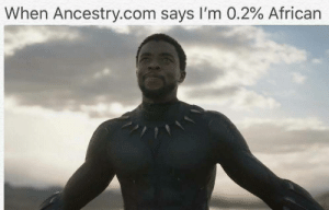 Ancestry, Forever, and ancestry.com: When Ancestry.com says I'm 0.2% African I am wakanda forever