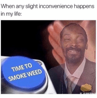 Life, Lmao, and Weed: When any slight inconvenience happens  in my life:  TIME TO  SMOKE WEED Forreal lmao (@herb)