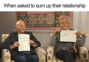 Wholesome friendship goals: When asked to sum up their relationship  #ARENT NE  Wholesome friendship goals