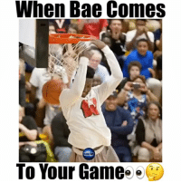 Memes, 🤖, and Watching You: When Bae Comes  To Your Game When bae comes to watch you play😂🔥 He has major bounce...🙌🏼 - Follow @freethrows for more!