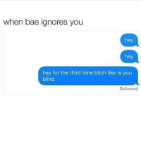 Ass, Bad, and Bae: when bae ignores you  hey  hey  hey for the third time bitch like is you  blind  Delivered just knowing ur a bad ass bitch is what life is about