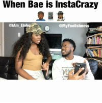 When Bae is instaCrazy  @My Foolishness  CiAm Elo Why aren't men allowed to use OUR IG account the way we want to? 😕😭😂 | Collaboration done with the one and only @iam_eloho 🙏🏿