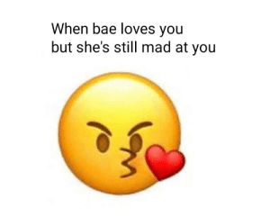 Bae, Love, and Dank Memes: When bae loves you  but she's still mad at you Love it when it happens