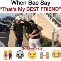 "Bae, Best Friend, and Johnny Bravo: When Bae Say  ""That's My BEST FRIEND""  GGEboicrazy WHEN BAE SAY ""THATS MY BESTFRIEND""👫👫👫👫👫👫👫🙌🏽🙌🏽🙌🏽🙌🏽💀💀💀💀😂😂➖➖➖➖➖➖➖➖➖➖➖➖ w @tfelderjr - @_brieana 😍 detroitfunniest Song: @the_johnny_bravo ( gone lie🔥) link in his bio"