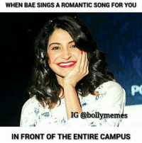 I wish someone could do this for me 🙈❤💕 Haha just in my dreams though 😂😂😜 - Gayu ( @sidritiloverss ) . Thank you so much for the picture @anushka_sharma_fanclub ☺😘😘❤💕 *virtual hug* ⛄❤ . AnushkaSharma AnushkaSharmaFans Bollywood BollywoodMeme BollywoodMemes Meme Memes Love BollywoodLovers BollyAddicts: WHEN BAE SINGS A ROMANTIC SONG FOR YOU  IG  bolly memes  IN FRONT OF THE ENTIRE CAMPUS I wish someone could do this for me 🙈❤💕 Haha just in my dreams though 😂😂😜 - Gayu ( @sidritiloverss ) . Thank you so much for the picture @anushka_sharma_fanclub ☺😘😘❤💕 *virtual hug* ⛄❤ . AnushkaSharma AnushkaSharmaFans Bollywood BollywoodMeme BollywoodMemes Meme Memes Love BollywoodLovers BollyAddicts