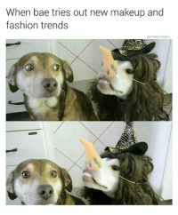 uhm it looks great thx for following @chaos.reigns_: When bae tries out new makeup and  fashion trends  @chaos.reigns uhm it looks great thx for following @chaos.reigns_
