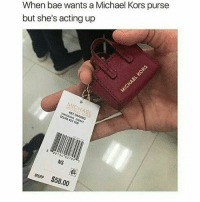 😂😂😂😂😂: When bae wants a Michael Kors purse  but she's acting up  KEY CHARMS  SELMA KEY FOB  NS  MSRP $58.00 😂😂😂😂😂
